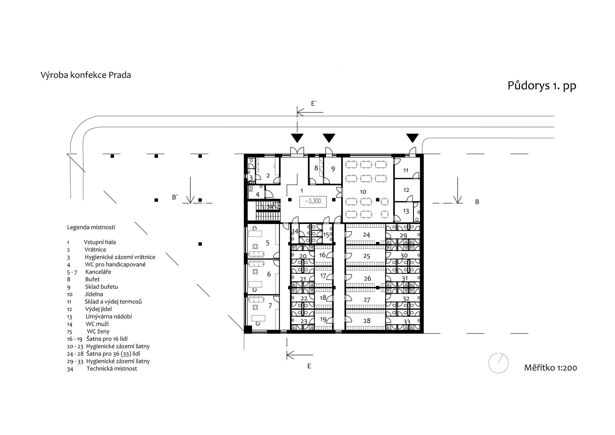 Block Plan Factory Producing Womens Clothing Architecture Vladimra astn