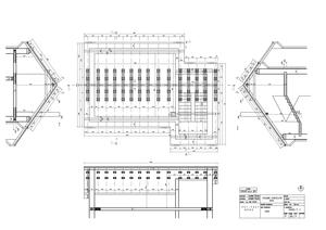 coroof truss - ground plan, sections